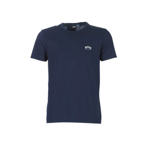 BOSS TEE CURVED men's T shirt in Blue Hugo Boss