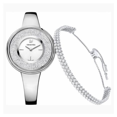 Crystalline Pure Set, White, Silver Tone Swarovski