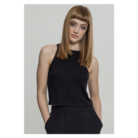 Urban Classics Ladies Rib Turtelneck Cropped Top black