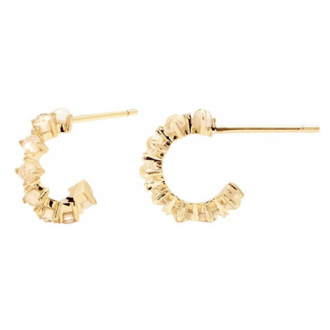 P D PAOLA Gold Plated Lady Bird Hoop Earrings