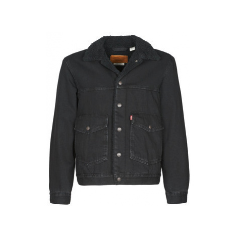 Levis PATCH PKT SHERPA TRUCKER men's Denim jacket in Black Levi´s
