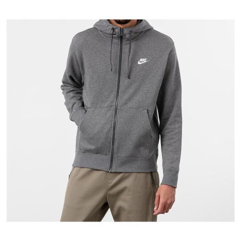 Nike Sportswear Club Fullzip Hoodie Charcoal Heathr/ Anthracite/ White