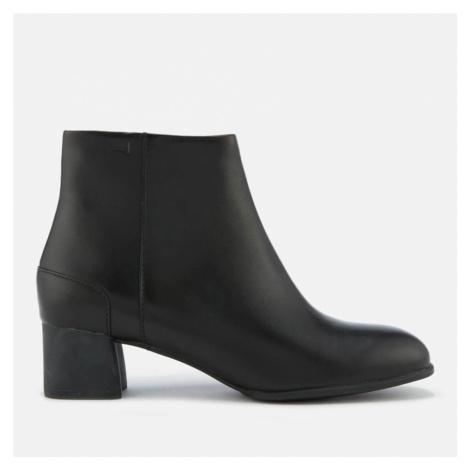 Camper Women's Katie Leather Heeled Ankle Boots - Black - UK - Black