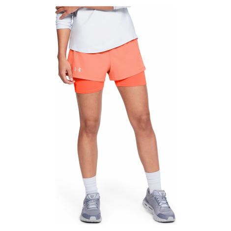 Under Armour Qualifier Speedpocket 2-in-1 Shorts Orange