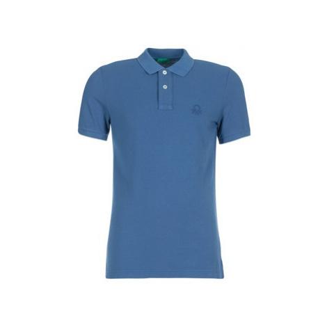 Benetton MEKIL men's Polo shirt in Blue United Colors of Benetton