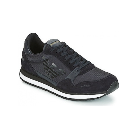 Emporio Armani PINO men's Shoes (Trainers) in Blue