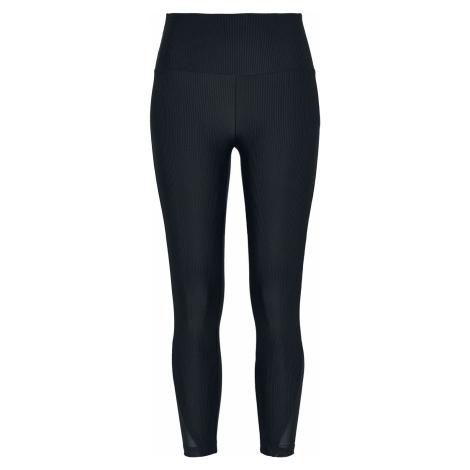 Urban Classics Ladies High Waist Shiny Rib Pedal-Pusher Leggings Leggings black