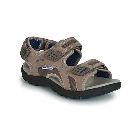 Geox JR SANDAL STRADA boys's Children's Sandals in Beige