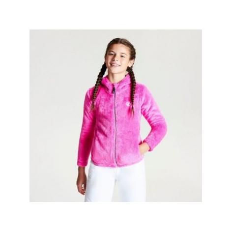 Dare 2b Girls' Prelim Full Zip Hooded Fleece Pink boys's Children's fleece jacket in Pink