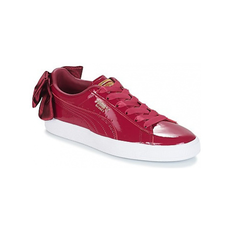 Puma WN SUEDE BOW PATENT.TIBETA women's Shoes (Trainers) in Red