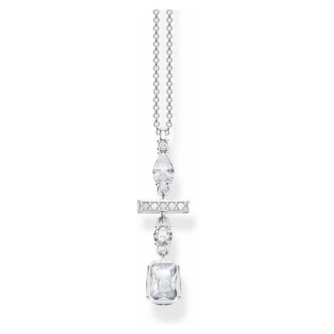 Thomas Sabo Sterling Silver Magic Stones White Zirconia Magic Stones Necklace