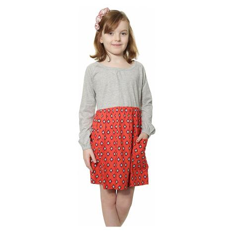 Roxy Sun Burst Dress - RMC6/Staggered Ikat Bright Pink
