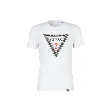 Guess CN SS WRAPPED TEE men's T shirt in White