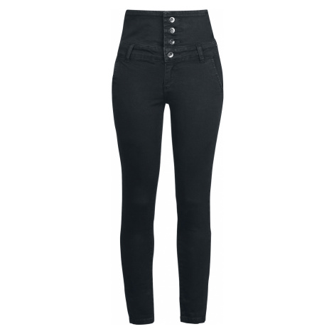 Forplay - High Waist Denim Jeans - Girls jeans - black