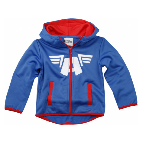 Captain America - Shield and Wings - Kids hooded zip - blue