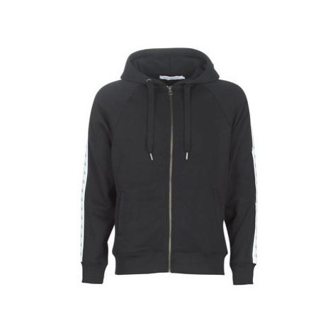 Calvin Klein Jeans MONOGRAM TAPE REG ZIP THROUGH men's Sweatshirt in Black