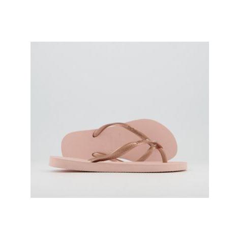 Havaianas Slim Crystal Glamour Flip Flops BALLET ROSE