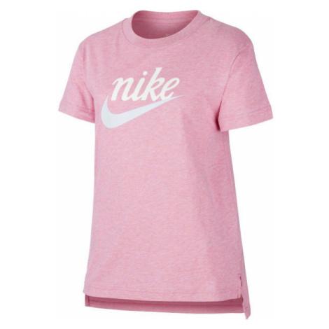Nike NSW TEE DPTL SCRIPT FUTURA G pink - Girls' T-shirt