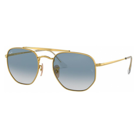 Ray Ban Unisex RB3648 MARSHAL - Frame color: Gold, Lens color: Blue, Size 54-21/145