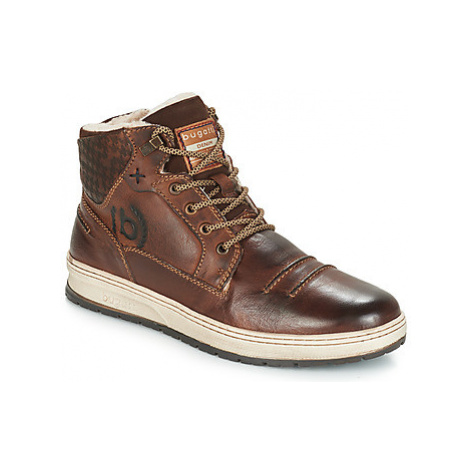 Bugatti TELVRO men's Shoes (High-top Trainers) in Brown