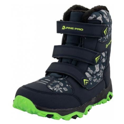 ALPINE PRO TRISTO dark blue - Kids' winter shoes