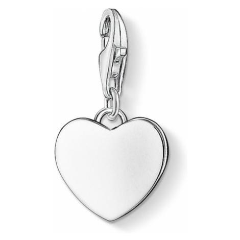 Ladies Thomas Sabo Sterling Silver Charm Club Heart Charm