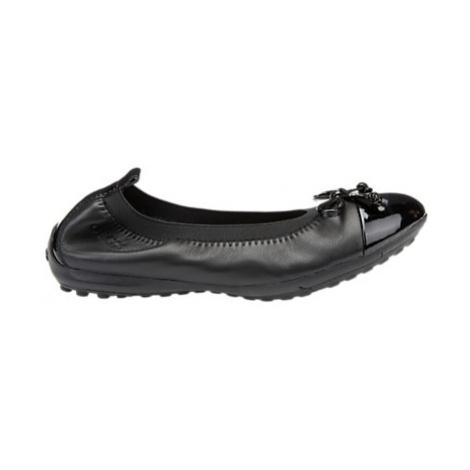 Geox Children's Piuma Ballet Pump School Shoes, Black