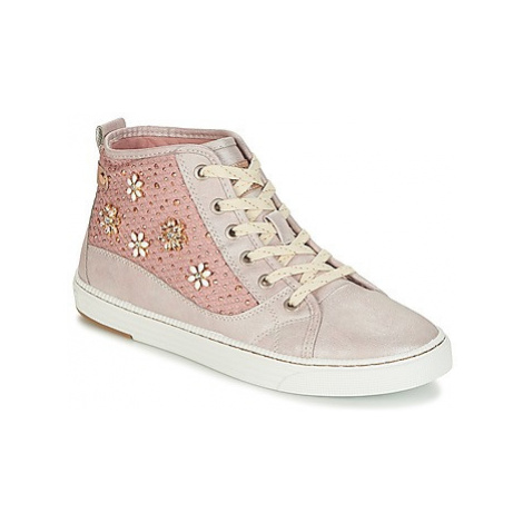 Mustang JAPOPU women's Shoes (High-top Trainers) in Pink