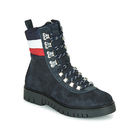 Tommy Jeans PADDED NYLON LACE UP BOOT women's Mid Boots in Blue Tommy Hilfiger