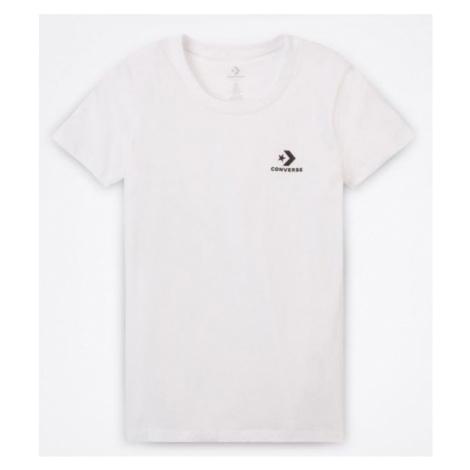 Converse STAR CHEVRON SMALL CHEST LOGO TEE white - Women's T-shirt