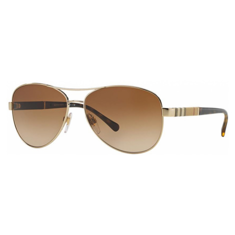 Burberry Woman BE3080 - Frame color: Gold, Lens color: Brown, Size 59-14/135