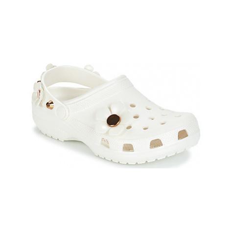 Crocs CLASSIC METALLIC BLOOMS CLOG women's Clogs (Shoes) in White