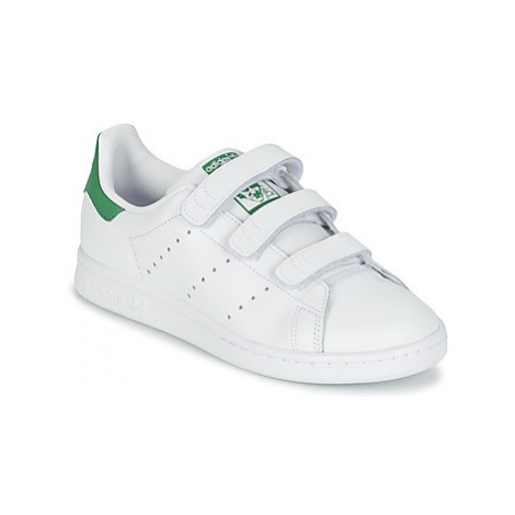 Adidas STAN SMITH CF J girls's Children's Shoes (Trainers) in White