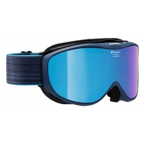 Blue snowboard goggles