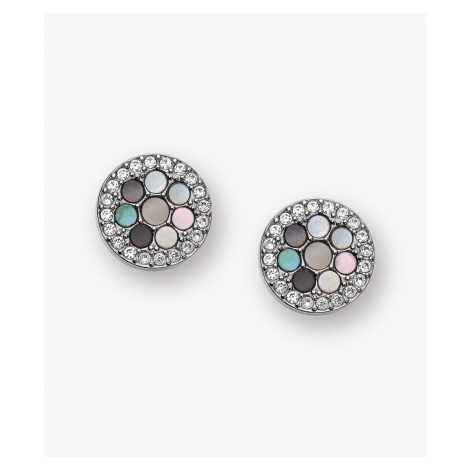 Fossil Women's Vintage Glitz Crystal Studs - Silver Gray