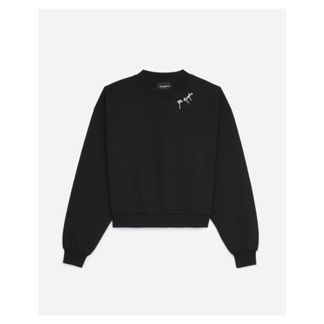 The Kooples - Black sweatshirt with neck logo - WOMEN