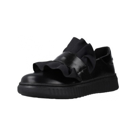 Geox J DISCOMIX GIRL girls's Children's Shoes (Trainers) in Black
