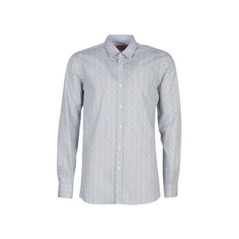 HUGO ELISHA02 men's Long sleeved Shirt in Grey Hugo Boss