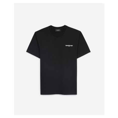 The Kooples - Black jersey T-shirt with breast logo - MEN