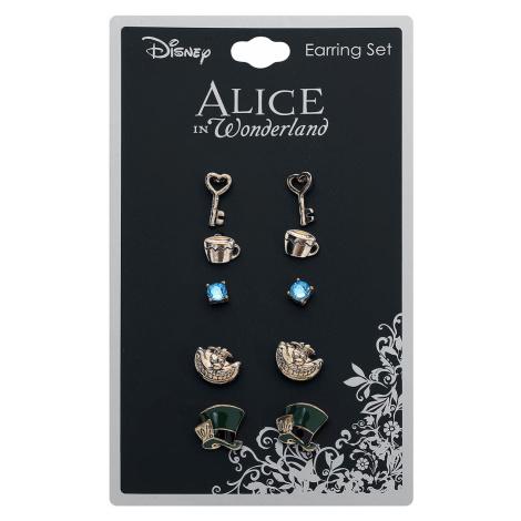 Alice in Wonderland - Symbols - Earpin set - gold-coloured