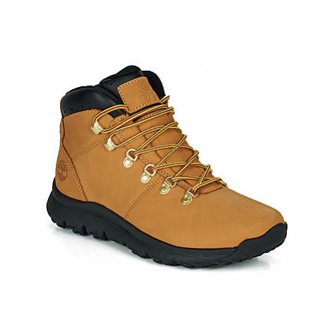 Timberland WORLD HIKER MID men's Mid Boots in Brown