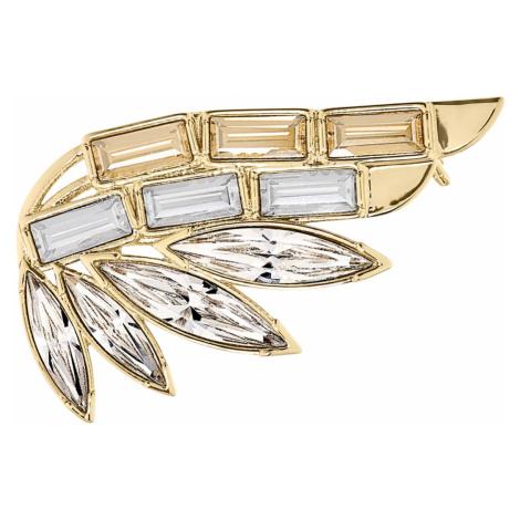 Wonder Woman Brooch, Gold tone, Gold-tone plated Swarovski