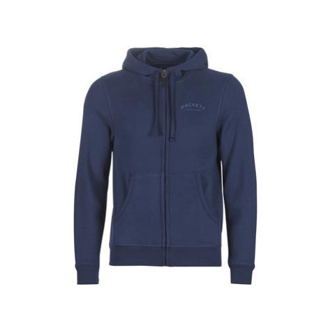 Blue men's sports zip-through sweatshirts and hoodies