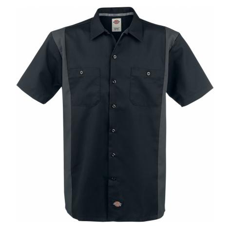 Dickies - Two Tone Work Shirt - Workershirt - black-grey