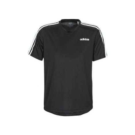 Adidas D2M Tee 3S men's T shirt in Black