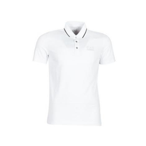 Emporio Armani EA7 TRAIN CORE ID 3GPF51 men's Polo shirt in White
