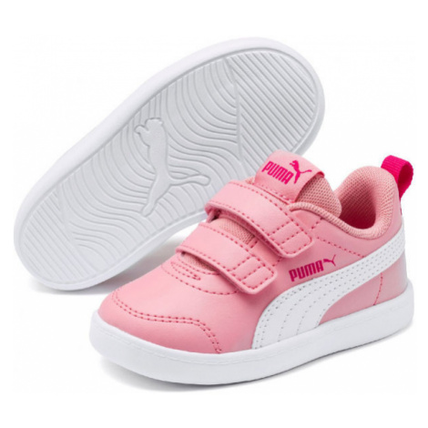 Puma COURTFLEX V2 V INF pink - Children's outdoor sneakers