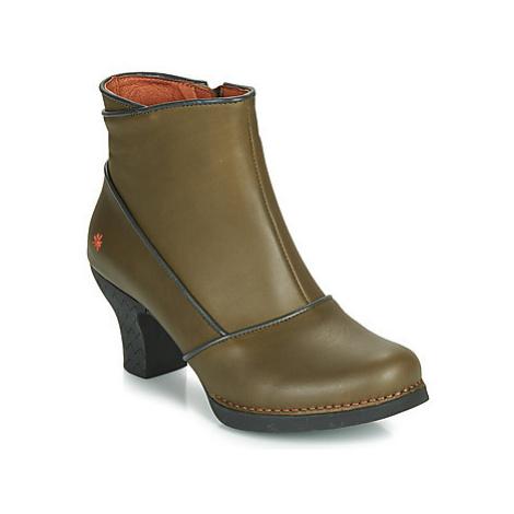 Art HARLEM women's Low Ankle Boots in Kaki