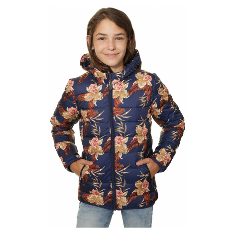 jacket Roxy Question Reason Printed - BSQ6/Castaway Floral Kids Blue Print