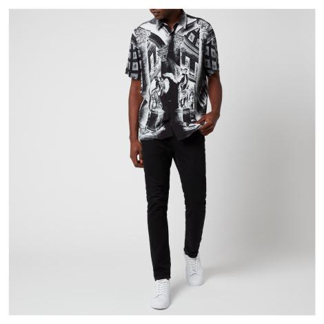 HUGO Men's Ebor Short Sleeve Shirt - Black Hugo Boss